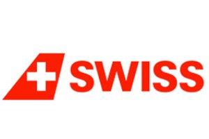 SWISS logo link til booking