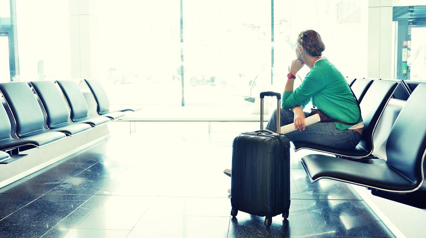Lang ventetid i lufthavnen ved aflyst fly