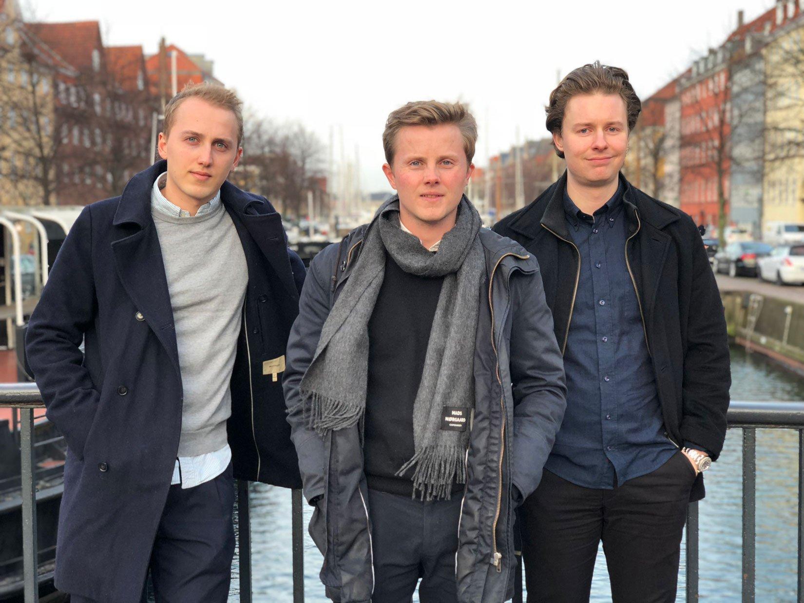 Flyhjælps tre stiftere, Johan Thybo, Gustav Thybo og Philip Brechmann